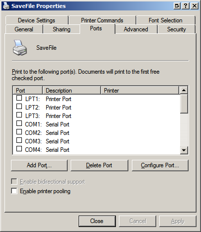 Gprinter port devices driver download for windows 7